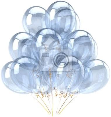 Globos del partido en blanco decoración de cumpleaños translúcido