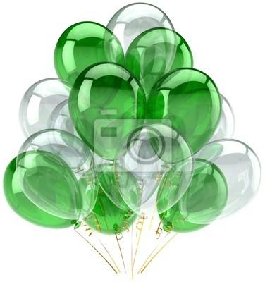 Globos del partido verde blanco translúcido decoración de birhtday