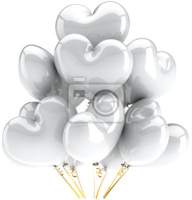 Globos en forma de corazón blanco hermosa decoración de fiesta de la boda