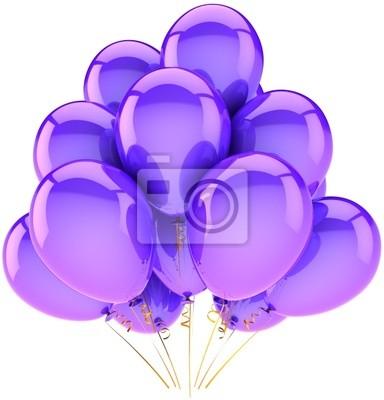 Globos púrpuras del partido clásico. Decoración para el cumpleaños del día de fiesta