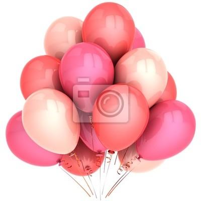 Globos románticos de color rosa. Emociones Amor concepto