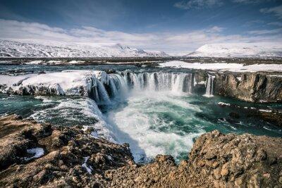 Cuadro Godafoss cascada en Islandia