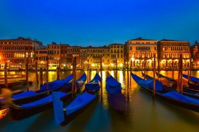 Cuadro Góndola en el canal magnífico, Venecia, Italia