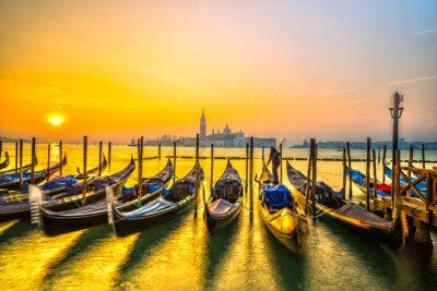 Cuadro Góndolas en Venecia, Italia