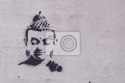 Cuadro Graffiti bouddha