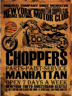Cuadro Gráfico de la camiseta de la motocicleta del vintage