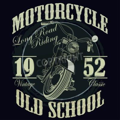 Cuadro Gráficos de la tipografía de la motocicleta. Bicicleta de la vieja escuela. T-shirt de diseño, ilustración vectorial