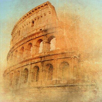 gran Antigua Roma - Coliseo, obras de arte de estilo retro