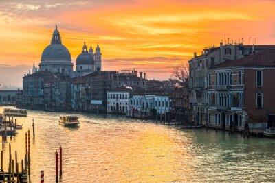 Cuadro Gran Canal y Basílica Santa Maria della Salute, Venecia, Italia