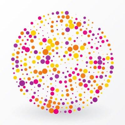 Cuadro gran círculo de color de los pequeños lunares