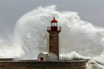 Cuadro Grandes olas de tormenta