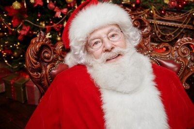 gray haired santa