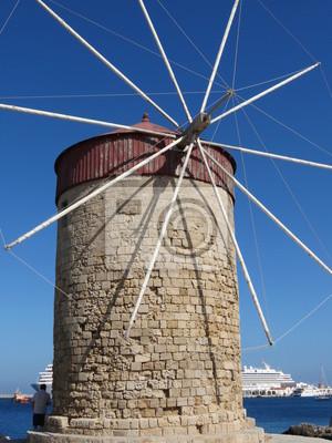 Grèce - Rodas - Ancien moulin à vent