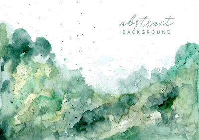 Cuadro green abstract watercolor texture background
