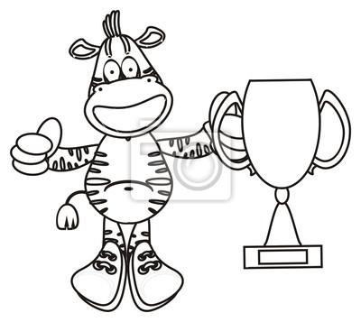 Grimace Dientes Campeón Cebra Caballo Diversión Dibujos Animados