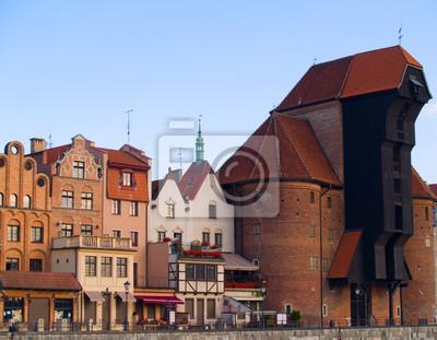 grúa de puerto más antiguo, Gdansk, Polonia