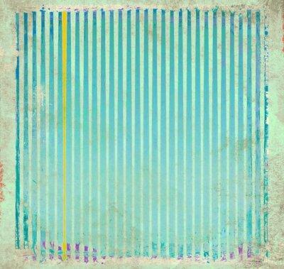 Cuadro Grunge fondo rayado azul