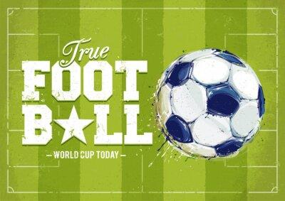 Cuadro Grunge Football Poster