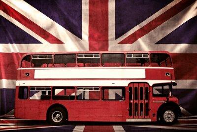 Grungy Foto de Red Bus