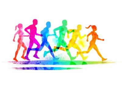 Cuadro Grupo de corredores