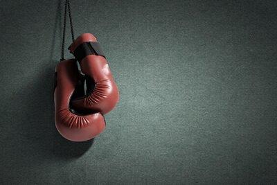 Cuadro guantes de boxeo