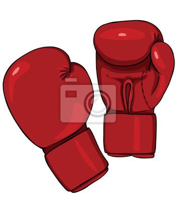guantes de boxeo rojos vector de dibujos animados pinturas para la