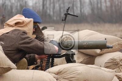 Cuadro Gunner. Guerra civil rusa 1918