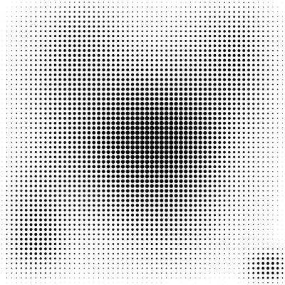 Cuadro Halftone dots  background  black and white stylish