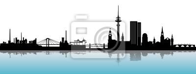 Hamburgo horizonte Alster