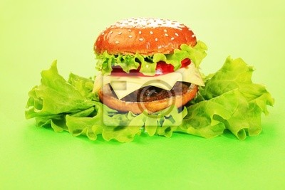 hamburguesa en la lechuga