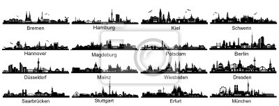 Hauptstädte deutscher Silhouetten