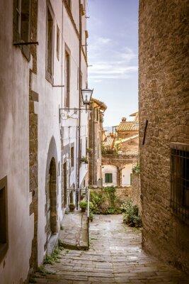 Cuadro Hermosa calle de Cortona, Toscana