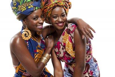 Cuadro Hermosa modesl moda africana en el vestido tradicional.