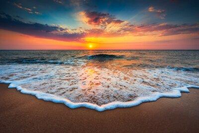Cuadro Hermosa salida del sol sobre el mar