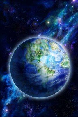Cuadro Hermosa Tierra está en el espacio
