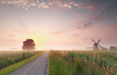 Cuadro Hermoso amanecer de verano en tierras de cultivo holandesas