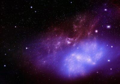 Cuadro Hermoso fondo del cielo nocturno profundo espacio exterior