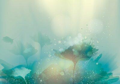 Cuadro Hermoso paisaje abstracto / Fondo floral mágica