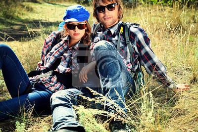 hippie relajarse