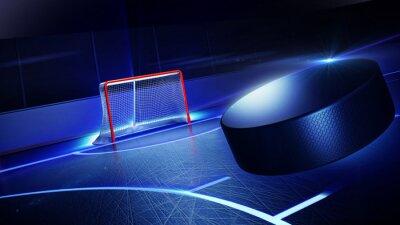 Cuadro Hockey pista de hielo y la meta