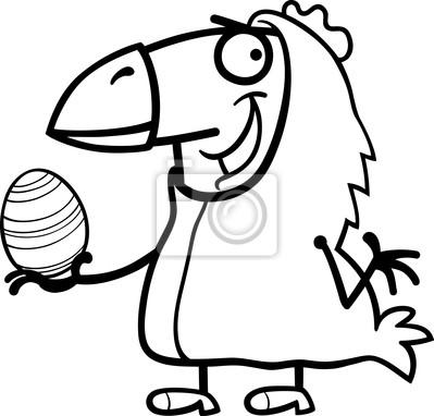 Hombre como de dibujos animados pollo de pascua para colorear ...