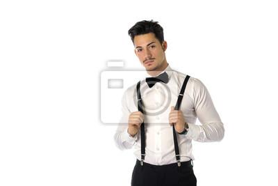 a90fa011a02fe Cuadro Hombre joven hermoso con elegante traje de negocios
