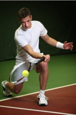 Cuadro Hombre joven que juega a tenis