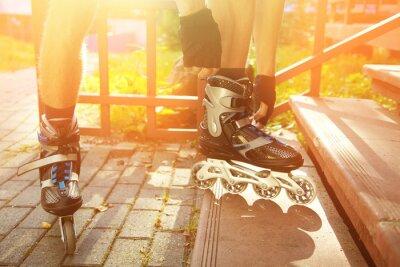 Cuadro Hombre patinando al aire libre