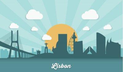 Cuadro Horizonte de Lisboa - diseño plano