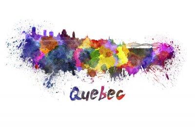 Cuadro Horizonte de Quebec en acuarela