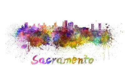 Cuadro Horizonte de Sacramento en acuarela
