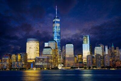 Cuadro Horizonte del Lower Manhattan en el crepúsculo, Nueva York