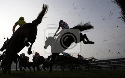 Cuadro Horse Racing Cerca de salto