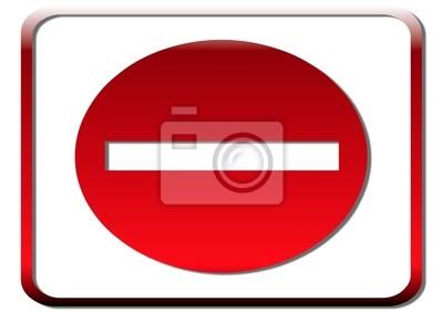 Cuadro icone sens interdit 3d
